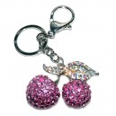 Cherry Diamante Keychain