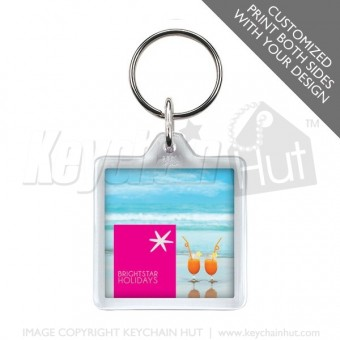 Printed Square Promotional Keychain
