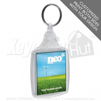 Printed Rectangle Promotional Keychain