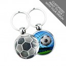 Printed Metal Soccer Promotional Keychain