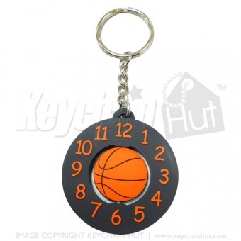 Soft Plastic Spinning Promotional Keychain
