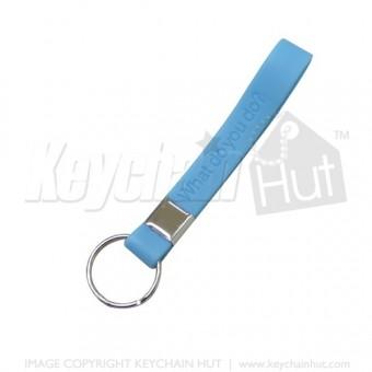 Custom Loop Promotional Keychain - Debossed