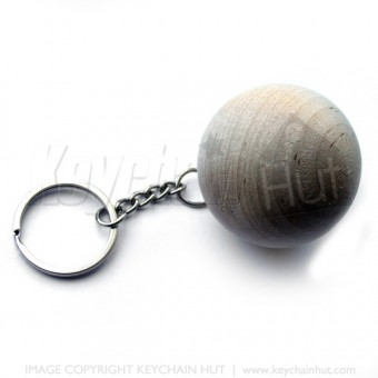 Laser engraved Wooden Ball Keychain